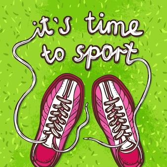 Sport-gummiüberschuhe-plakat
