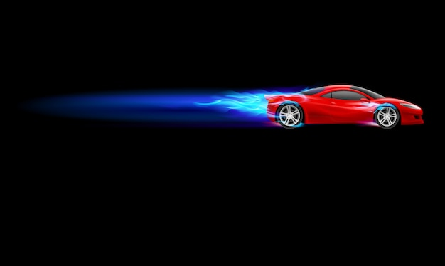 Sport heißes auto