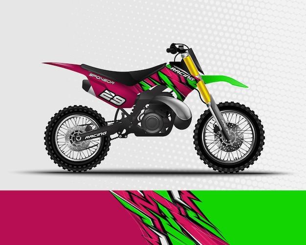 Sport hintergrund abstraktes design für rennmotorrad motocross dirt bike