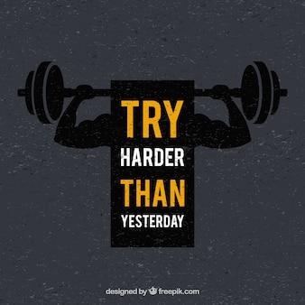 Sport hintergrund mit motivation phrase