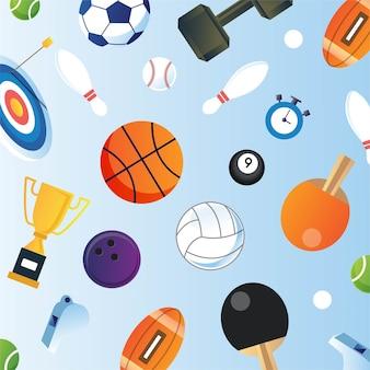 Sport hintergrundausrüstung isoliert