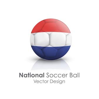 Sport icon freizeit rund fußball