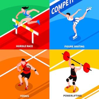 Sport isometrisches konzept