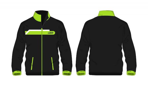 Sport jacke grün und schwarz t illustration