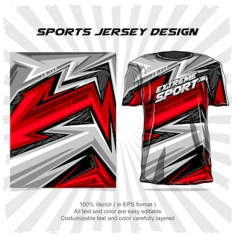 Sport jersey design, extremsport abstraktes design