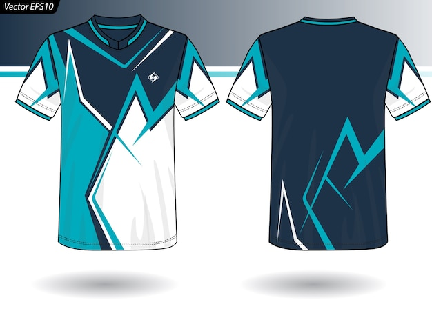 Sport jersey vorlage für team-uniformen