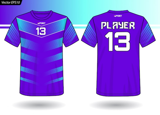 Sport-jersey-vorlage für teamuniformen