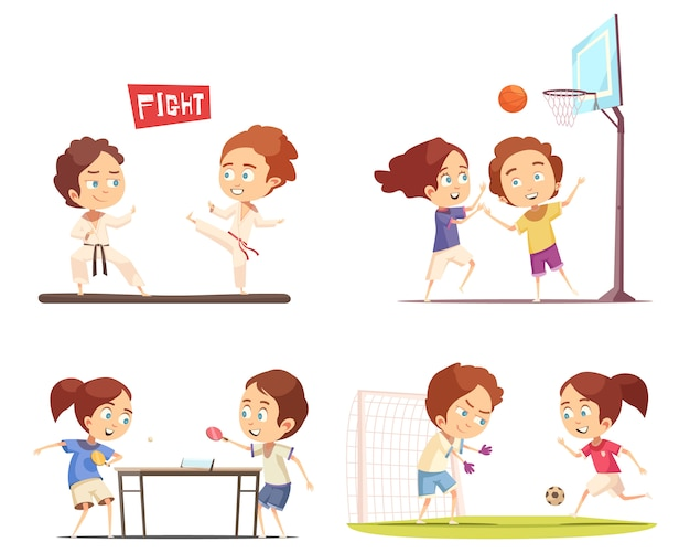 Sport kinder szene sammlung