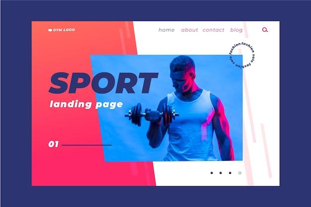 Sport landing page template-stil