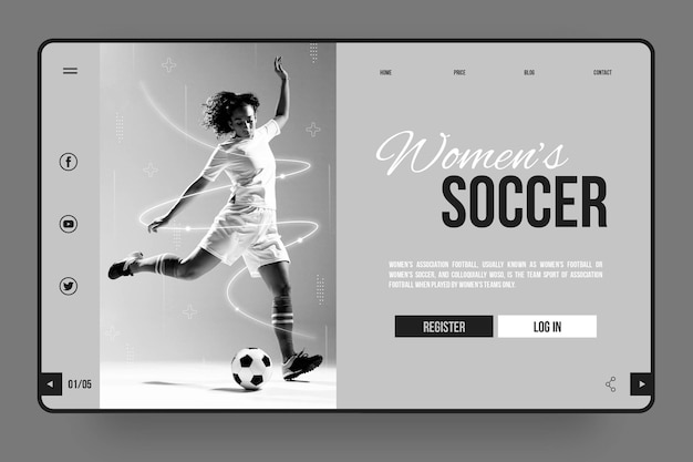 Sport landing page thema