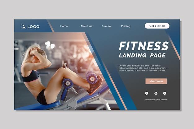 Sport landing page vorlage mit bild