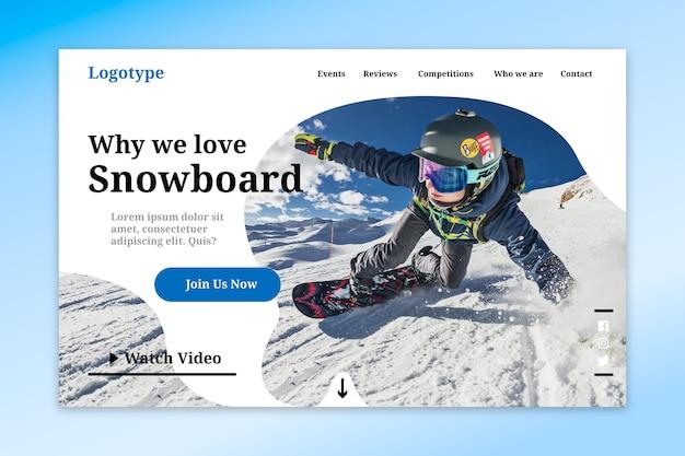 Sport-landing-page-vorlage