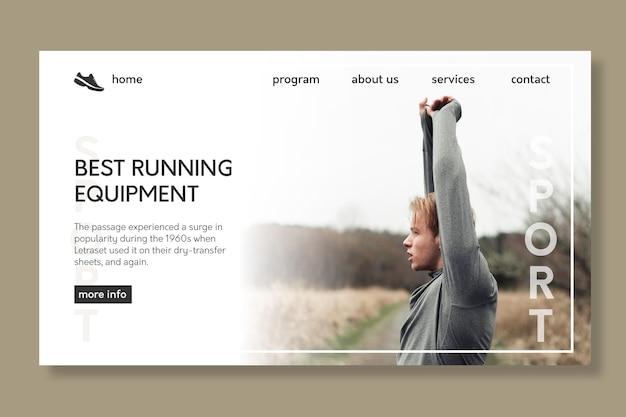 Sport landing page vorlage