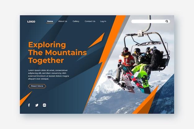 Sport-landingpage mit bild