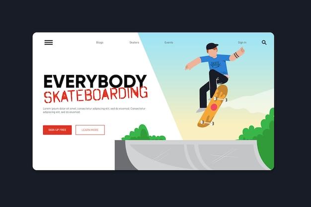 Sport-landingpage-vorlage im freien