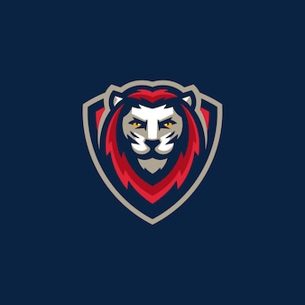 Sport lion team gaming-illustrationsvektorschablone