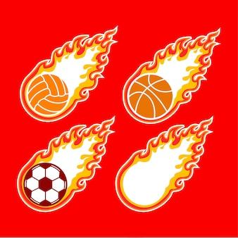 Sport-logo flamme ball