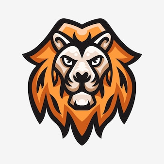 Sport logo illustration maskottchen des löwen