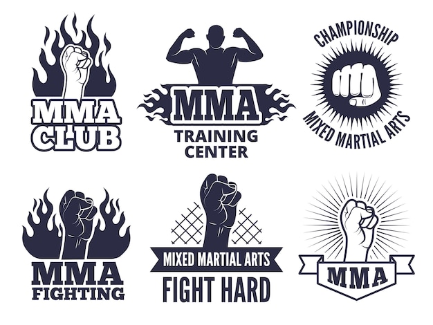 Sport martial labels für mma fighters