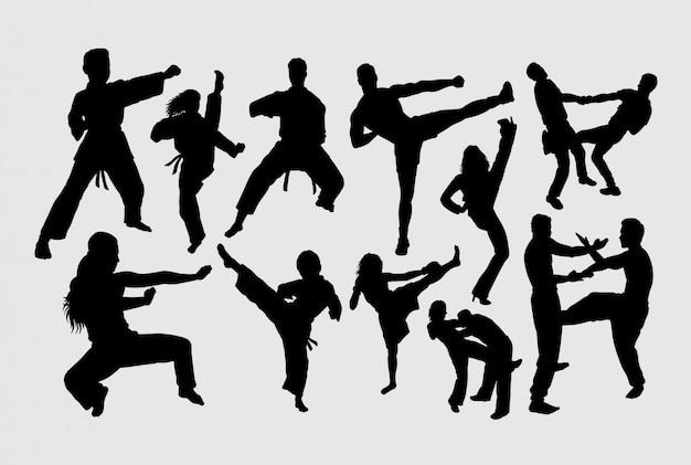 Sport meisterschaft silhouette