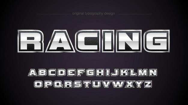 Sport-metallic-typografie-design