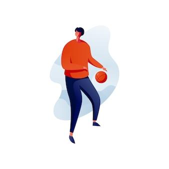 Sport oder basketball illustration