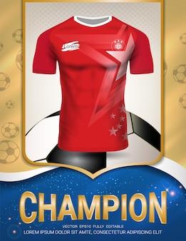 Sport-plakat-schablone mit fußball-jersey-uniform
