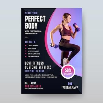 Sport poster design fitness-service