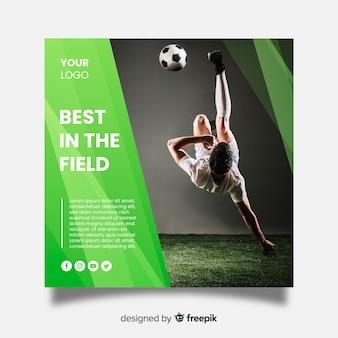 Sport quadratische fahne mit foto