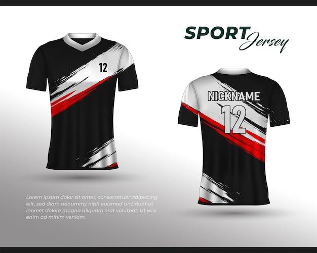 Sport-renntrikot-design, t-shirt-design vorne hinten. sportdesign für fußball-rennrad-gaming-trikot