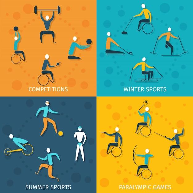 Sport-set für behinderte
