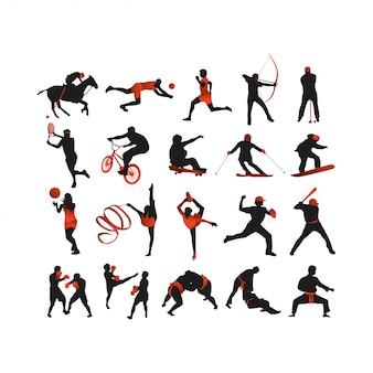 Sport silhouette sammlung