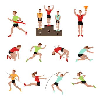 Sport sportler gewinner illustration.