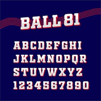 Sport square klassische schrift typografie