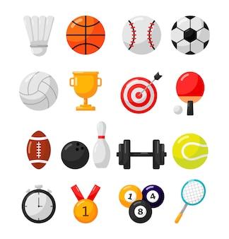 Sport-symbol, die isoliert auf weißem hintergrund.
