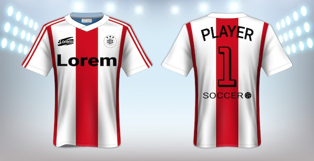 Sport t-shirt vorlage