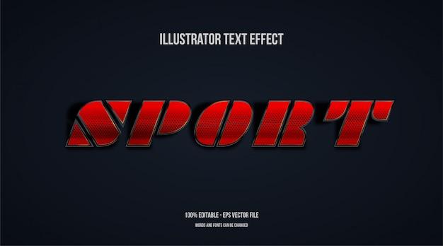 Sport text effekt