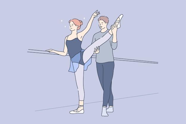 Sport, training, übung, tanzkonzept.