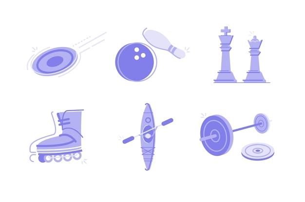 Sport und aktivitäten illustration