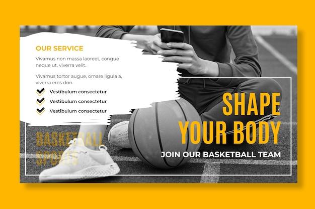 Sport und tech banner vorlage