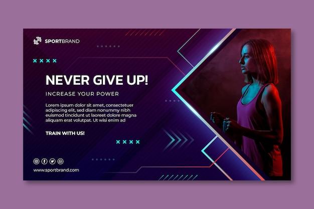 Sport und tech banner vorlage Premium Vektoren