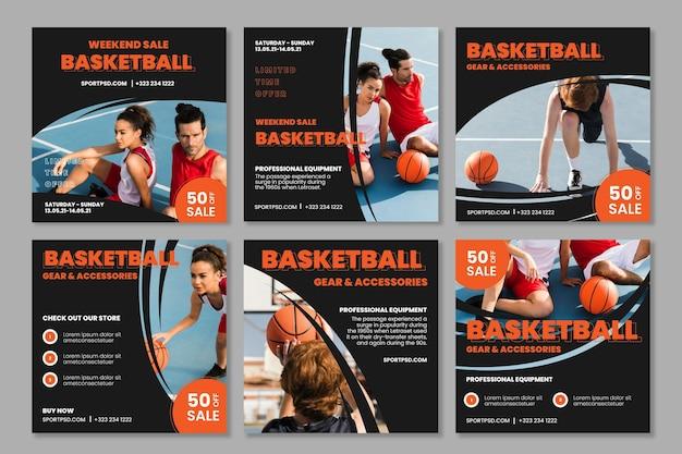 Sport- und tech-instagram-beiträge
