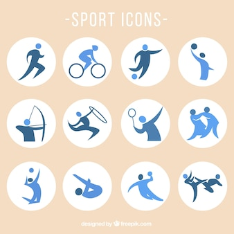 Sport-vektor-icons gesetzt