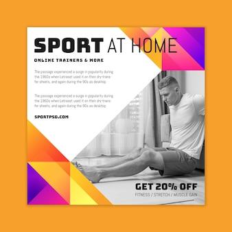 Sport zu hause flyer platz