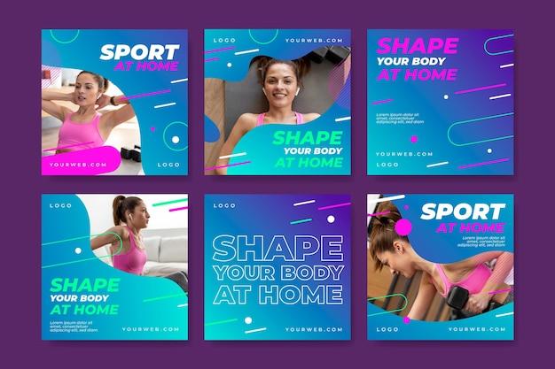 Sport zu hause instagram-beiträge