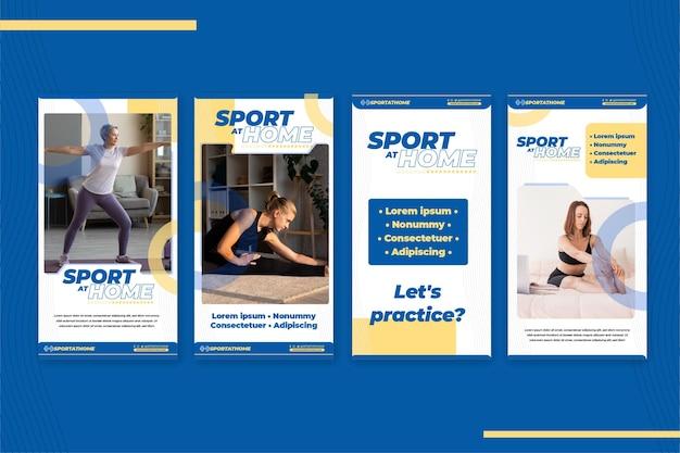 Sport zu hause instagram geschichten
