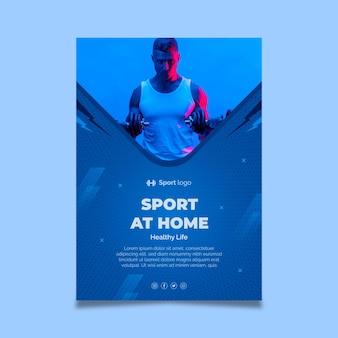 Sport zu hause poster vorlage
