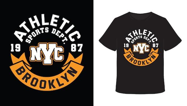 Sportabteilung brooklyn typografie t-shirt design