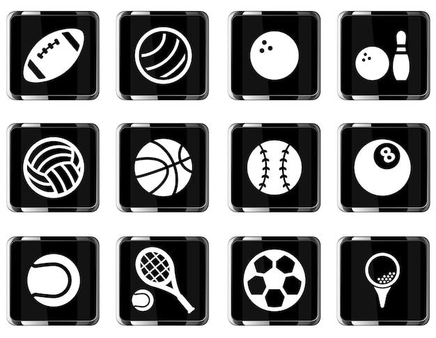 Sportbälle einfach symbol für websymbole