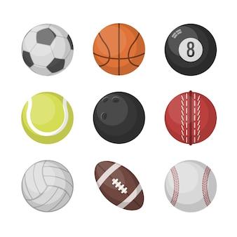 Sportbälle-vektorsatz
